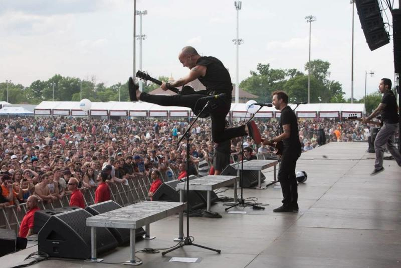 Rise Against performs on Saturday