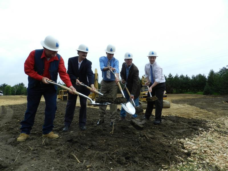 Local dignitaries break ground on the Karegnondi Water Pipeline project near Lexington, Michigan