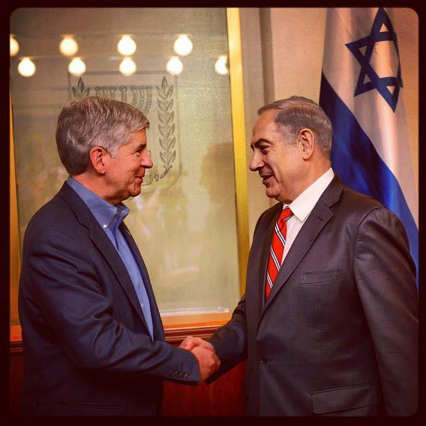 Gov. Snyder meets Israeli PM Netanyahu