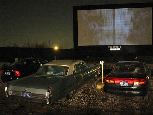 The Ford-Wyoming drive-in movie theater in Detroit.