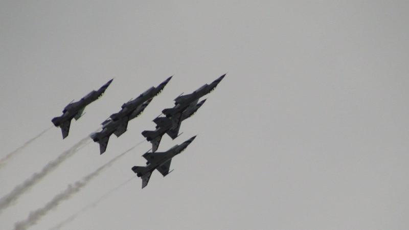 The U. S. Air Force Demonstration Team, the Thunderbirds performed  at the Battle Creek 2012 Field of Flight Air Show.