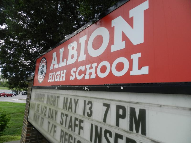 Albion High School closed at the end of the last school year, due to budget cuts