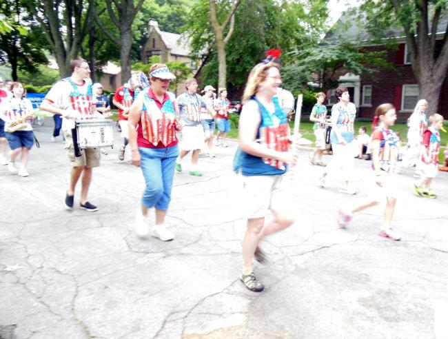 The Hollyhock Lane Independence Day parade marked its 79th year.