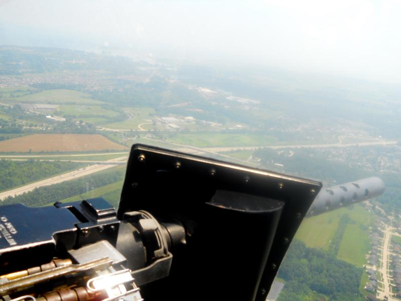 A  view of Ypsilanti out the window of a bomber.