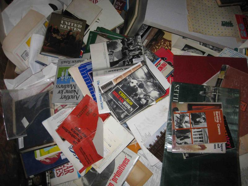 Hundreds of books were retrieved from the high school dumpster, but thousands more were lost.
