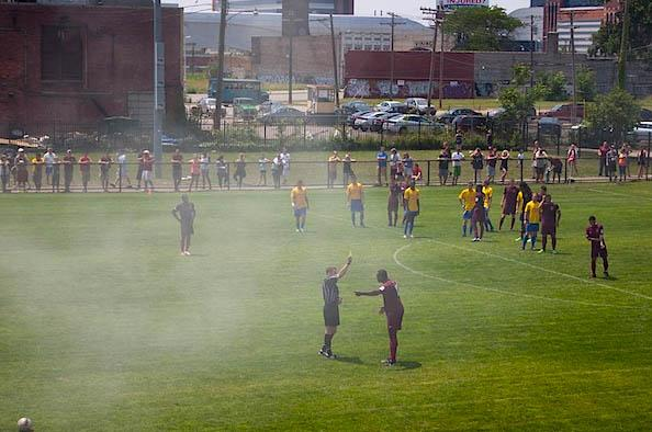 Smoke near the game