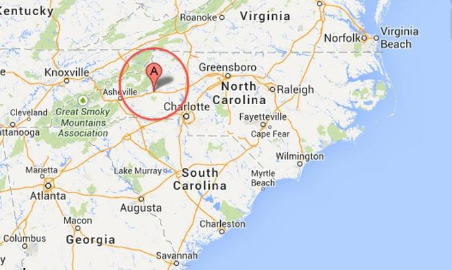 This is where the archaeological site is located in North Carolina.