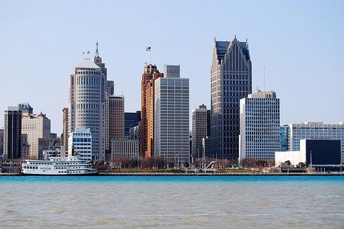 Skyline of Detroit.