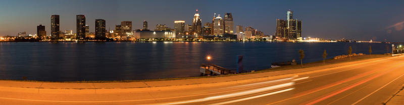 The Detroit skyline.