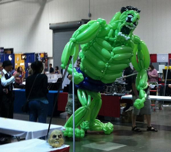 "For the 2012 Motor City Comic Book Convention, Tim made the Incredible Hulk, which ""walked"" with help of its creator"