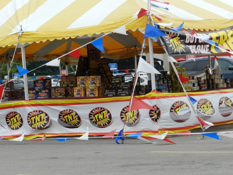 Still plenty of fireworks on sale at tents like this in Michigan