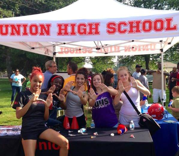 Union High School students get ready to head back to school at park parties organized by the district.