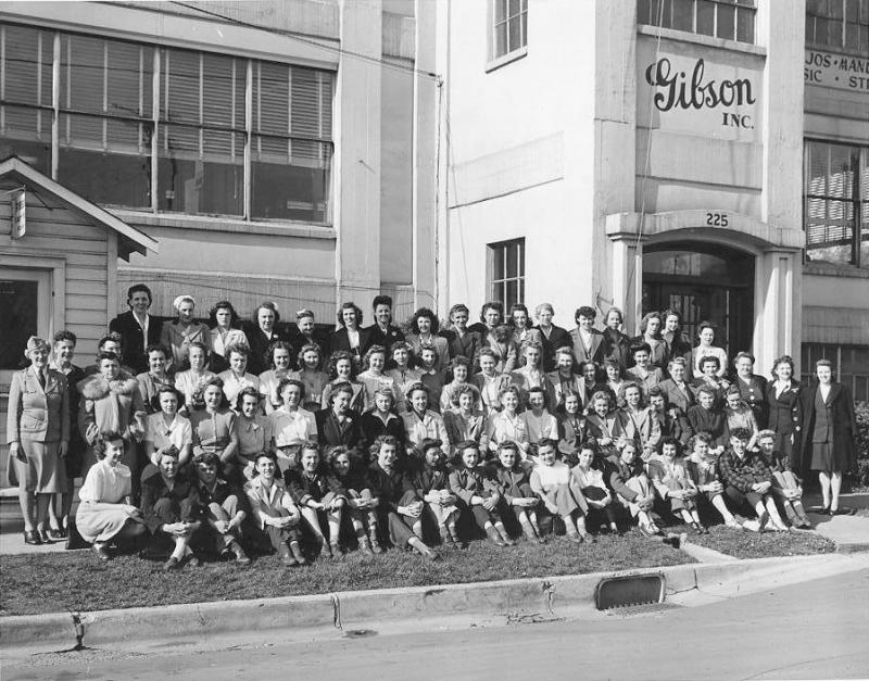 The 1944 Gibson workforce.