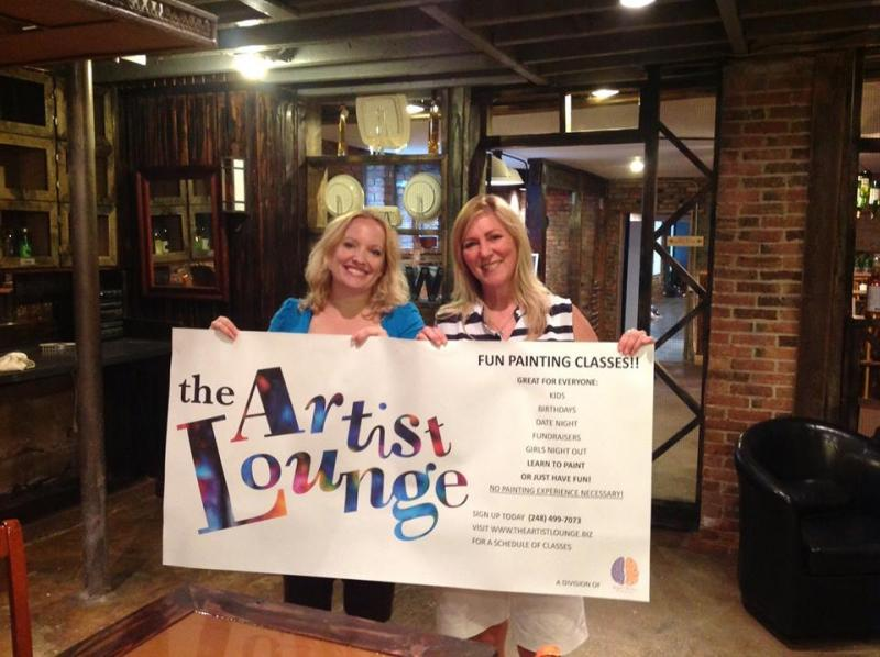Wendelin Wilson and Wendy Fournier, founders of The Artist Lounge.