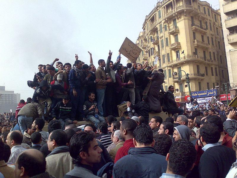 Demonstrators on Army Truck in Tahrir Square, Cairo Date: 29 January 2011