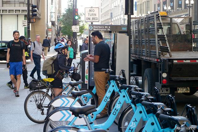 The Divvy program is a bike share in Chicago.