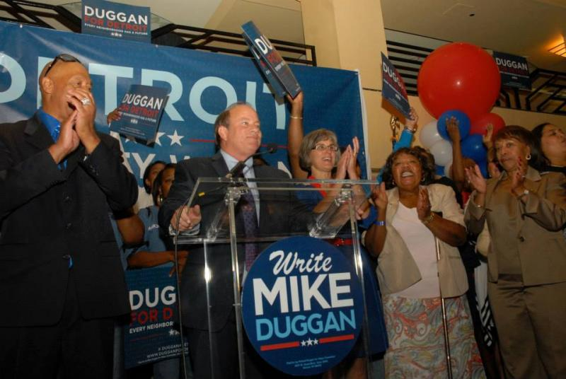 Mike Duggan won the Detroit mayoral primary yesterday.