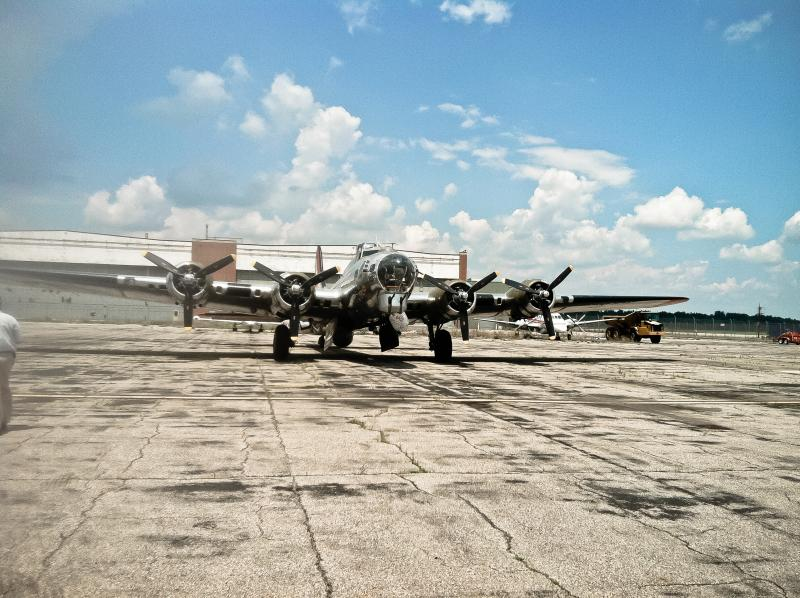 A B-17 owned and operated by the Yankee Air Museum