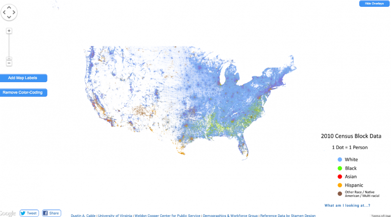 The Entire Country By Race