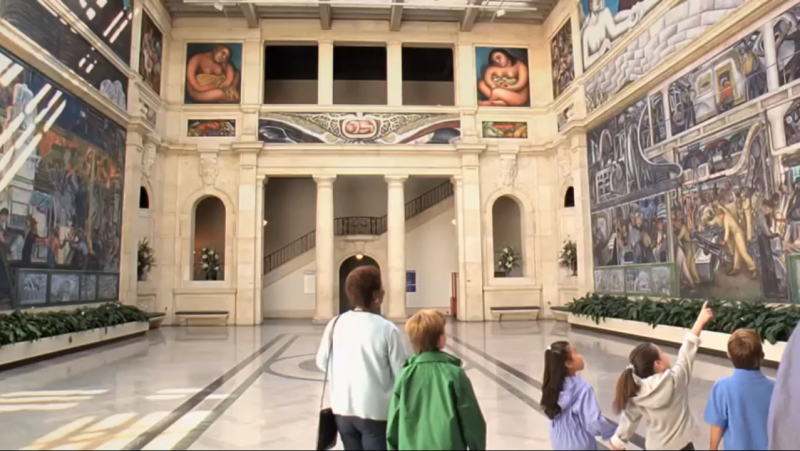 A screen grab of the DIA in the Detroit Pure Michigan ad