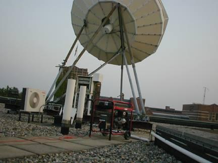 On the roof of the LSA building on August 14, 2003. Michigan Radio stayed on-air thanks to some heroes who found this generator.