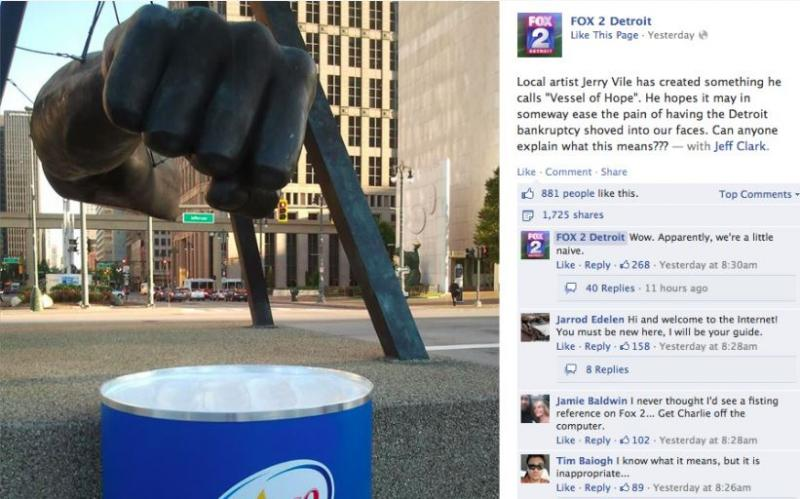 Fox 2 News Detroit took a second to get the uh, joke.