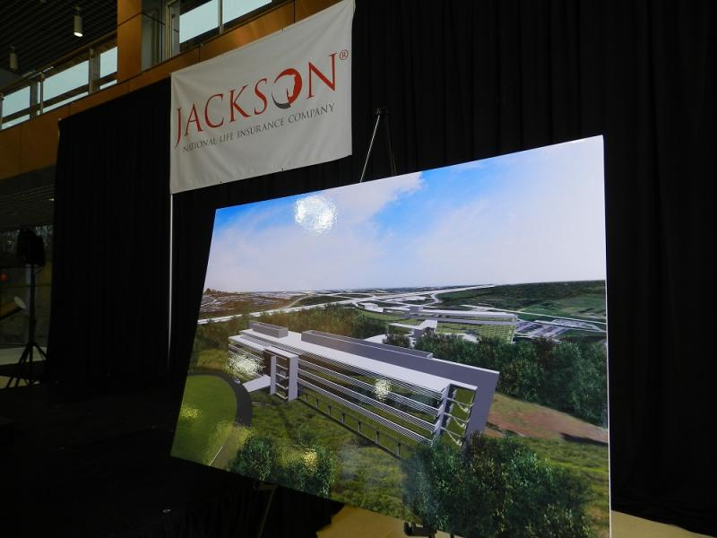 An artist's rendering of the proposed expansion is shown during the announcement of the project earlier this year