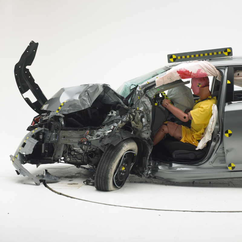 Result of Nissan Sentra's frontal offset crash test
