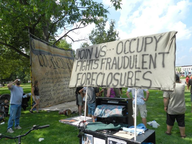 People attending the Occupy gathering a wide variety of issues, from economics to racism