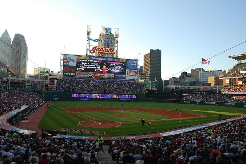 Progressive Field in Cleveland (where the hurtful chanting took place).