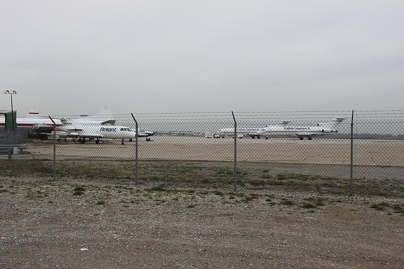 Planes on the tarmac at the Willow Run Airport