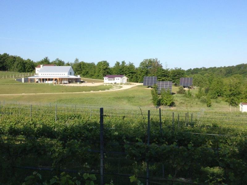 Crain Hill Vineyards in Leelanau County Michigan runs on 100% solar.