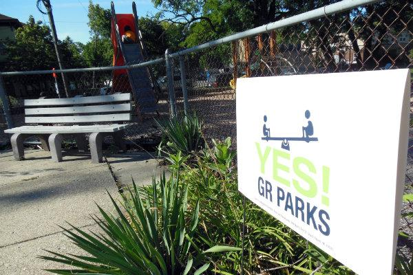 Yes to GR Parks kicked off its campaign Friday morning. The election is in November.