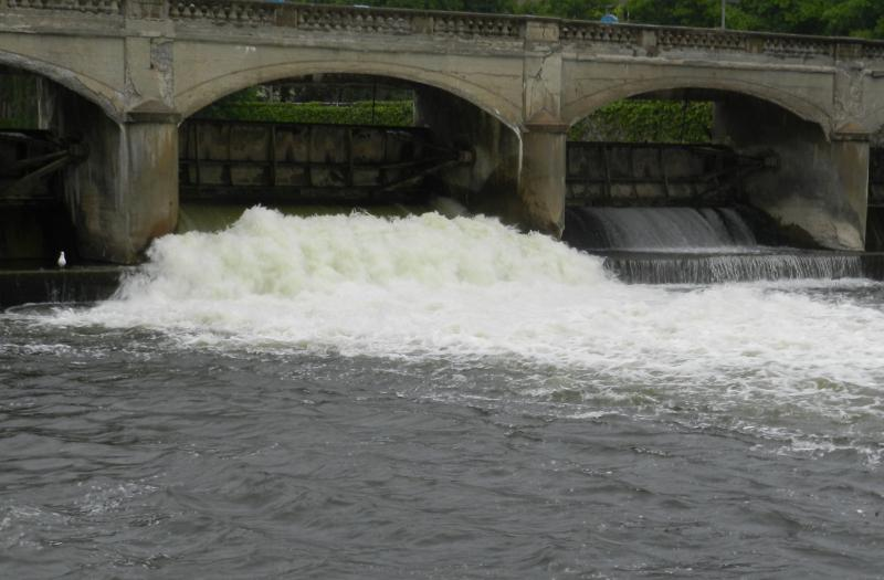 The Hamilton dam along the Flint River (file photo)