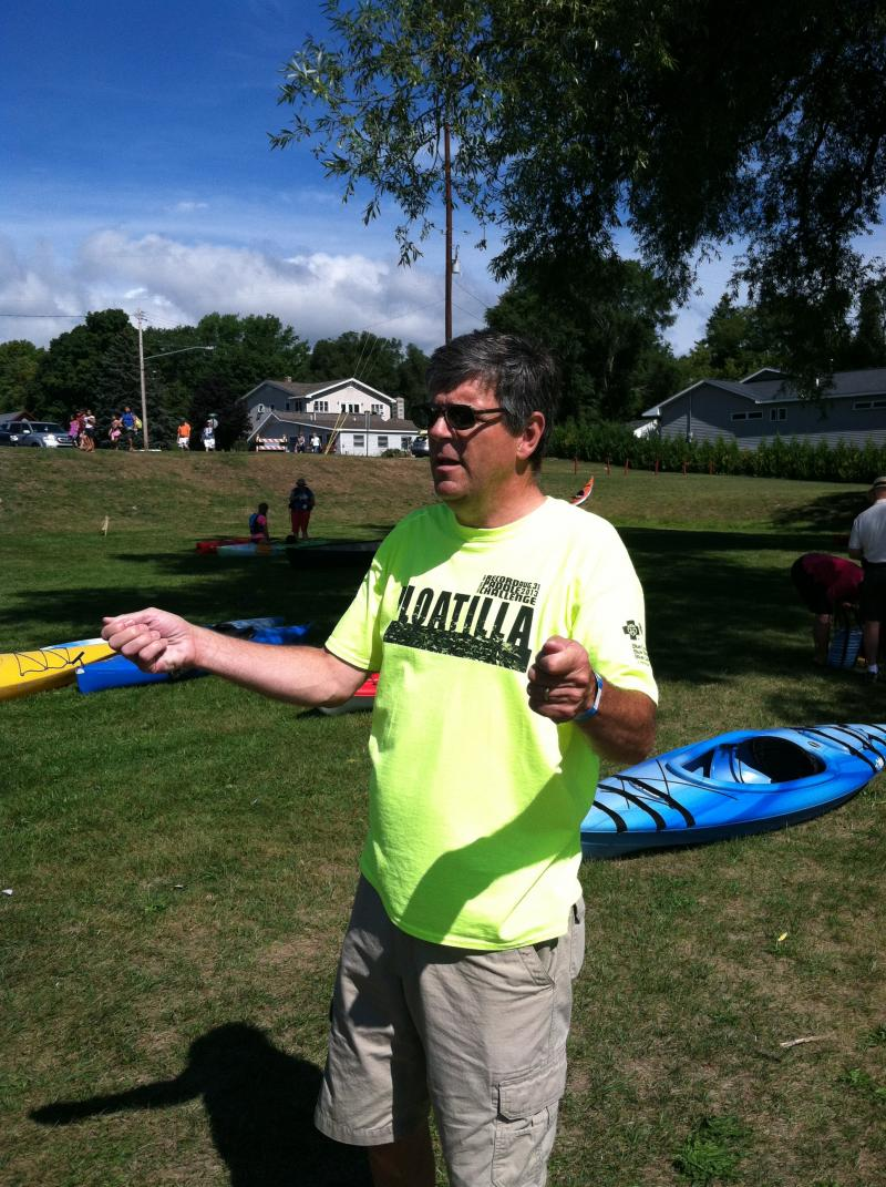 Volunteer Dave Faught says something really important about the Floatilla.