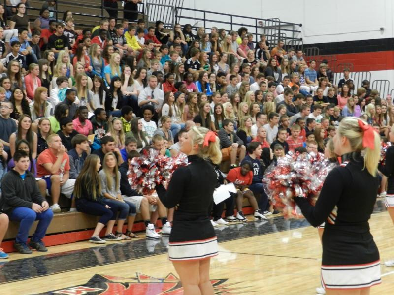 Students at Marshall High School started thier first day of the new school year at a morning assembly