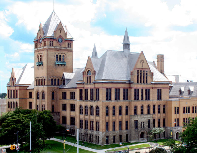 The Old Main building at Wayne State University