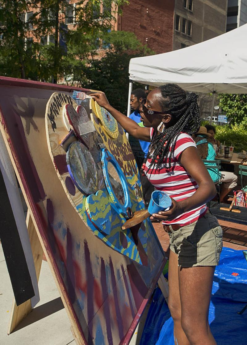 Community members are encouraged to express themselves.