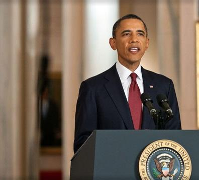 President Barack Obama delivers a speech on the crisis in Syria