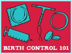 graphic showing teens various birth control options