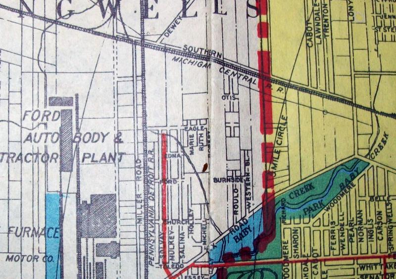 "A map of Detroit from 1923, around the time author D.E. Johnson writes about in ""Detroit Shuffle."""