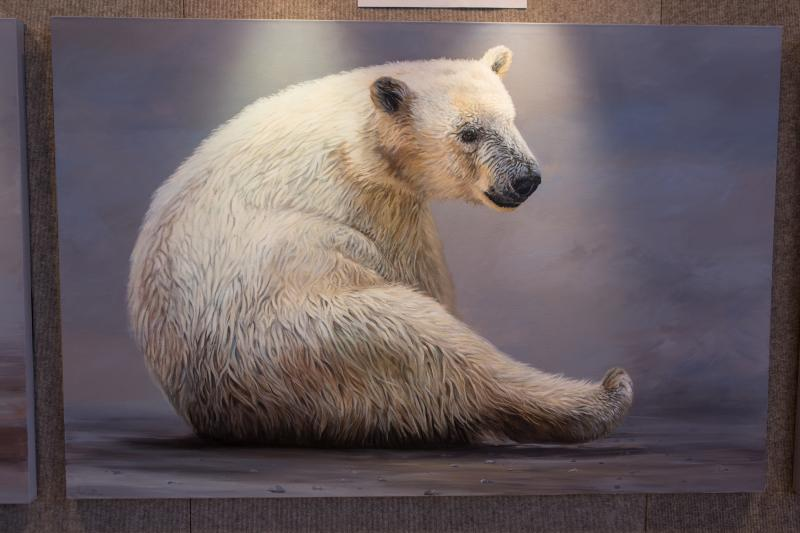 "The top three public vote winners also included Anni Crouter of Flint, Mich. for Polar Expressed, three separate 48"" by 72"" polar bear paintings."