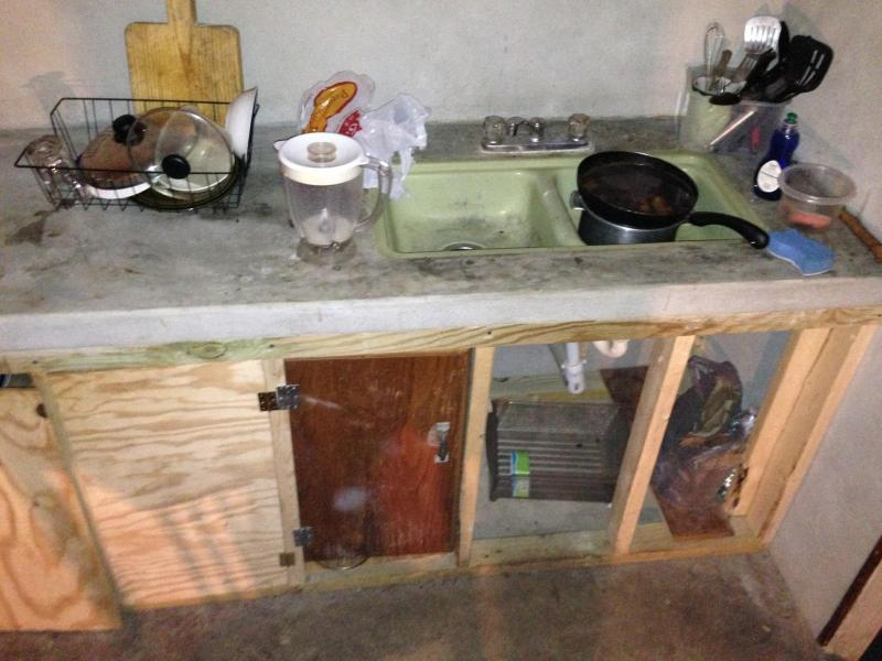 The kitchen of a migrant camp in Kentucky