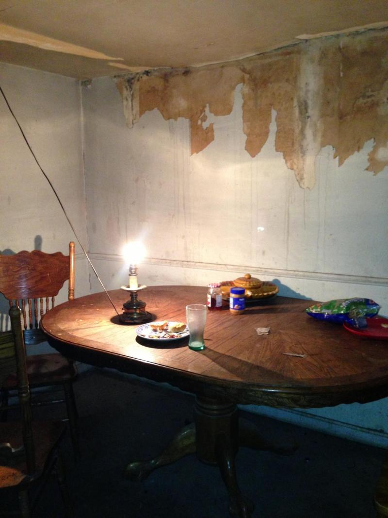 The dinner table for a migrant worker in Kentucky