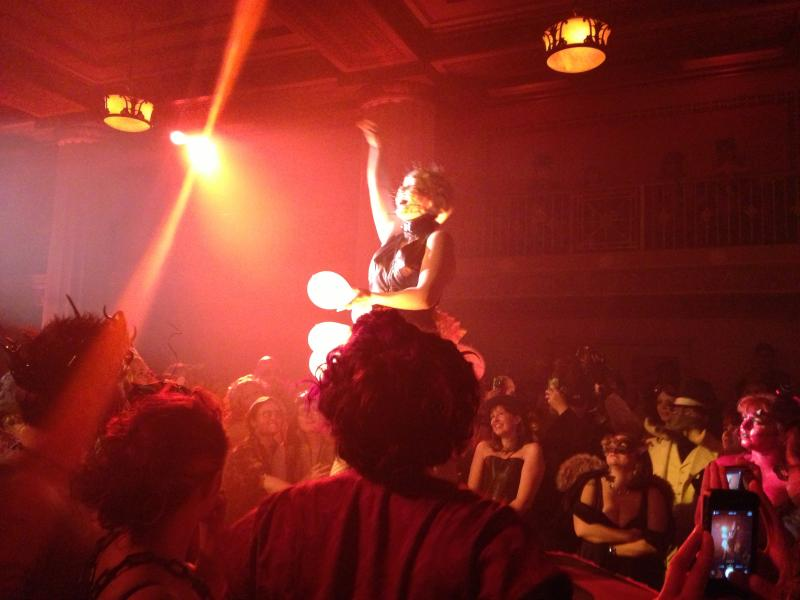 One of the burlesque dancers at Theatre Bizarre.