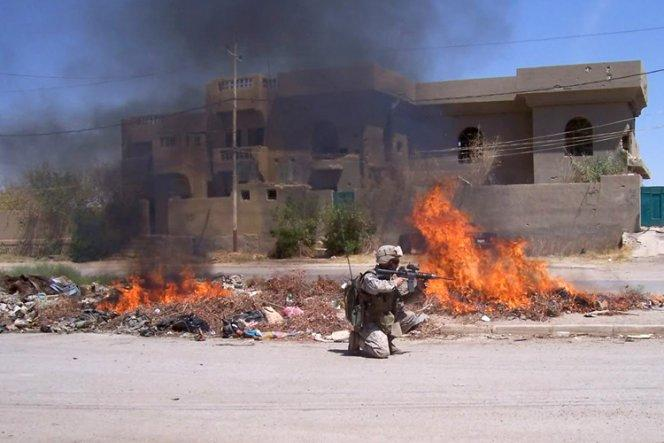 Tim Fazio is shown during his service in Fallujah, Iraq. His medical diagnoses include PTSD, traumatic brain injury and anxiety, mental conditions for which opiates hinder recovery, studies show.
