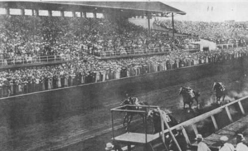 Back on Sept. 2nd, 1933, thousands packed the old Detroit fairgrounds to see, and bet on, the state's first legal parimutuel horse race