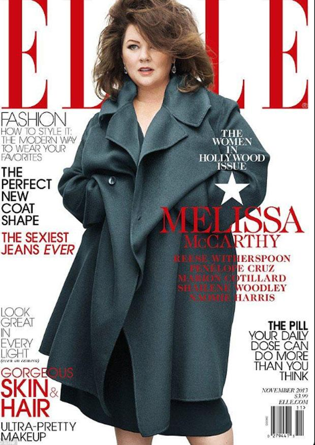 Melissa McCarthy on the cover of Elle.