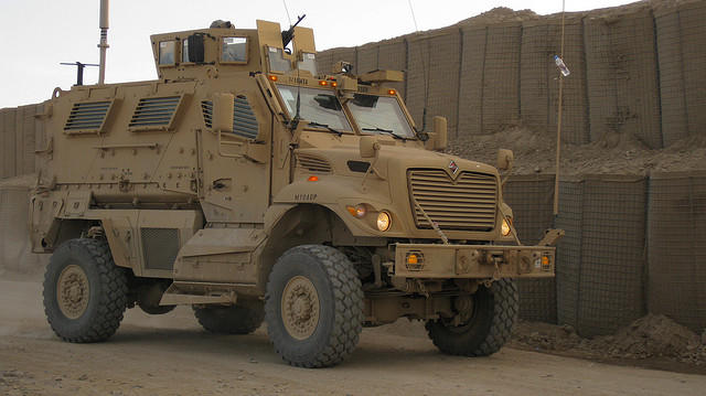 An example of an MRAP vehicle (not OSU's).