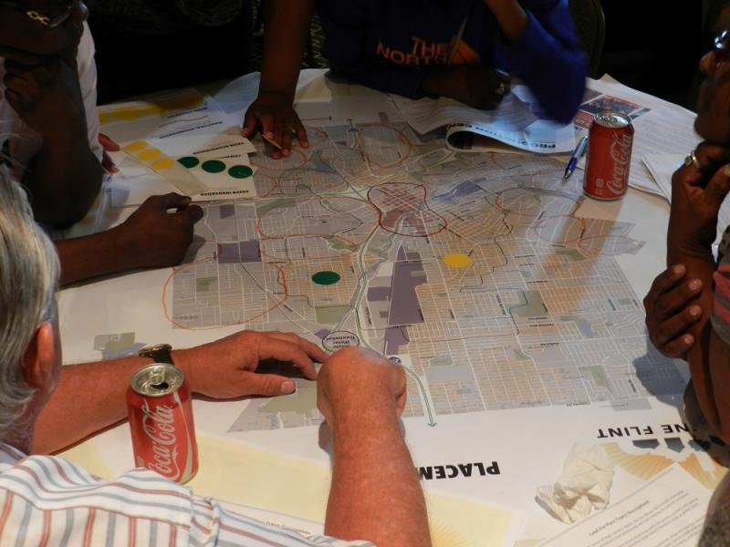 Flint residents discuss changes to their city's master plan during a recent community forum